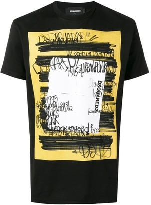 DSQUARED2 scribble print T-shirt