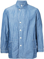 Kaptain Sunshine - patch pocket shirt jacket - men - Silk/Linen/Flax - 40