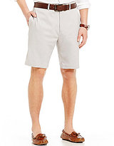 Roundtree & Yorke Flat-Front Stretch Microfiber Easy Care Shorts