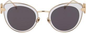 Salvatore Ferragamo Eyewear Cat-Eye Frame Sunglasses