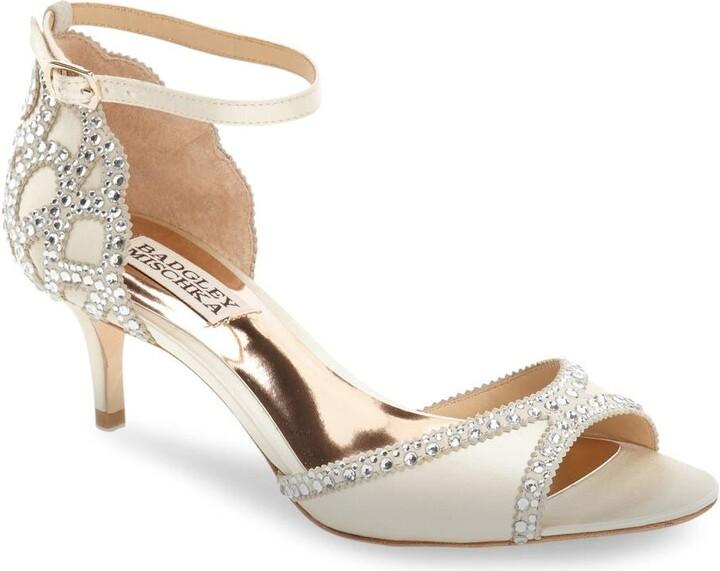 Badgley Mischka Collection 'Gillian' Crystal Embellished d'Orsay Sandal