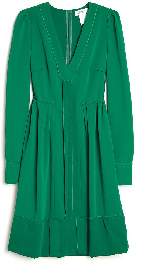 Sonia Rykiel Sonia by Long Sleeve Pleat Dress