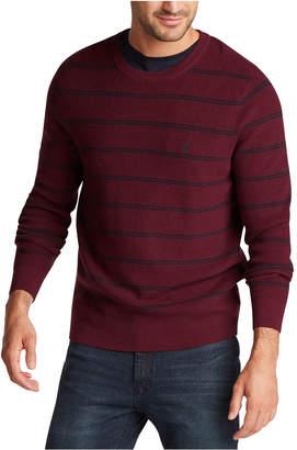 Nautica Men Navtech Crewneck Striped Sweater