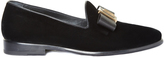 Etro Bow velvet loafers