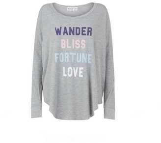 Wildfox Couture Fortune Love Long Sleeve T Shirt - S