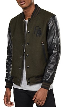 G Star Bolt Slim Fit Leather Bomber Jacket