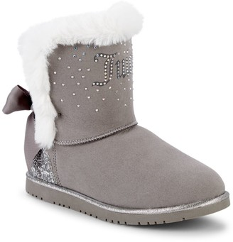 Juicy Couture Girl's Burbank Embellished Faux Fur-Trimmed & Lined Winter Boots
