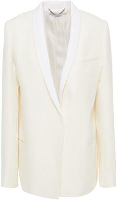 Stella McCartney Two-tone Wool-blend Crepe Blazer