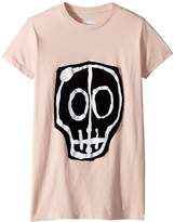 Nununu Skull Mask Patch T-Shirt Girl's T Shirt