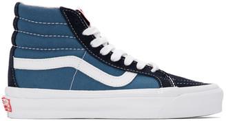 Vans Blue and Navy OG Sk8-Hi LX Sneakers
