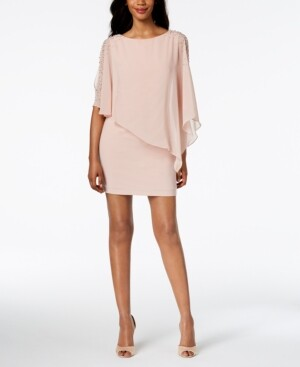 Xscape Evenings X by Petite Capelet Sheath Dress