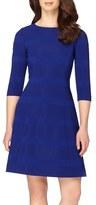 Tahari Petite Women's Ribbed Fit & Flare Dress