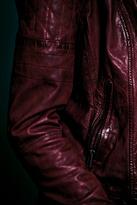Muu Baa Muubaa Red Quilted Biker Jacket