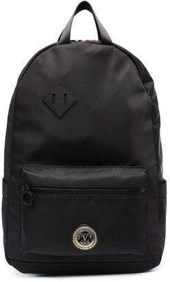 Versace Jeans Couture Logo-Plaque Backpack