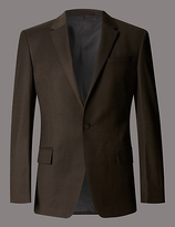 Autograph Slim Fit Single Breasted 1 Button Sharkskin Jacket