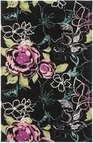 Safavieh Wyndham Collection WYD378C Handmade and Multi Wool Area Rug, 5 Feet by 8 Feet (5-Feet X 8-Feet)