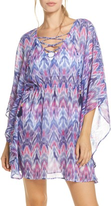 Tommy Bahama Mirage Lace Front Tie Dye Cover-Up Tunic