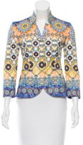 Philosophy di Alberta Ferretti Printed Fitted Blazer w/ Tags