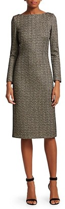 St. John Golden Evening Shimmer Knit Dress