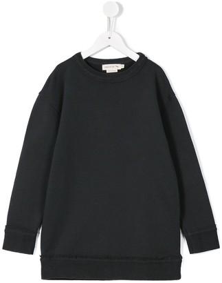 Andorine Frayed Edge Sweatshirt Dress