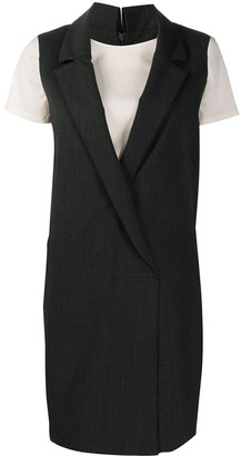 Semi-Couture Layered Tailored Mini Dress