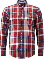 Gant Winter Twill Check Shirt, Mud Brown