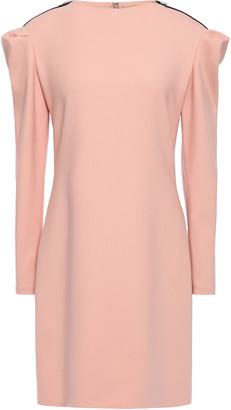Victoria Victoria Beckham Zip-detailed Wool-blend Mini Dress