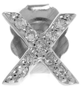 KC Designs Rose Gold Diamond X Single Stud Earring