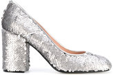 Pollini sequins embellished pumps - women - Calf Leather/Polyester/Leather - 36.5