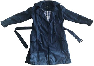 Barbour Blue Cotton Trench Coat for Women