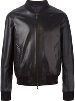 Ami Alexandre Mattiussi leather bomber jacket