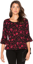 Velvet by Graham & Spencer Gertrude Floral Top