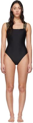 Versace Underwear Black Neck Empire One-Piece Swimsuit