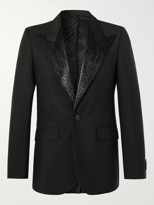 Givenchy Embellished Satin-Trimmed Wool And Mohair-Blend Tuxedo Jacket