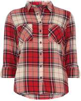 Dorothy Perkins Red and Navy Check Shirt