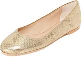 Diane von Furstenberg Cambridge Snake Print Ballet Flats