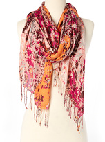 Big Buddha Red & Orange Paint Splatter Scarf