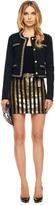Michael Kors Sequin-Stripe Denim Skirt