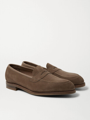 Edward Green Suede Penny Loafers