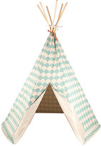 Nobodinoz Arizona Scale-Pattern Cotton Play Tent-GREEN