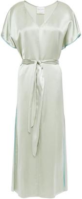 Forte Forte Belted Satin Midi Dress