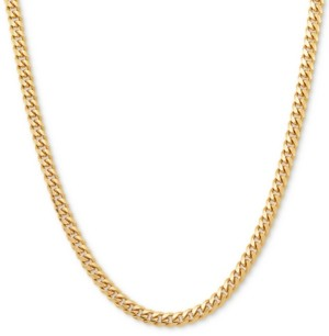 """Giani Bernini Cuban Link 24"""" Chain Necklace in 18k Gold-Plated Sterling Silver"""
