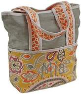 Hoohobbers Tote Diaper Bag, Yellow Flirty Flowers