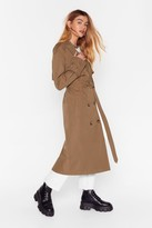 Nasty Gal Hey There Tailor Double Breasted Trench Coat