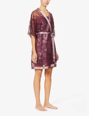 Nk Imode Dovima silk-satin and lace robe