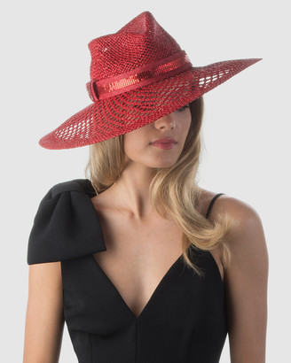 Olga Berg Maxwell Straw and Mesh Hat