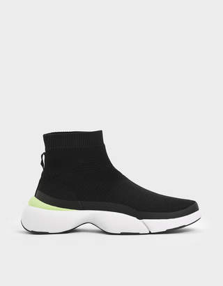 Charles & Keith 4WARD Collection: Knitted High Top Slip-On Sneakers
