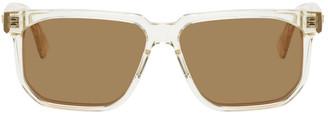 Bottega Veneta Transparent Square Sunglasses