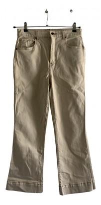 KHAITE Beige Cotton - elasthane Jeans