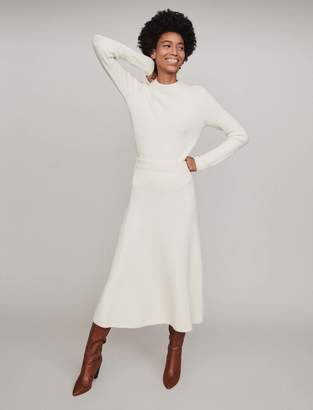 Maje Calf-length ribbed skirt